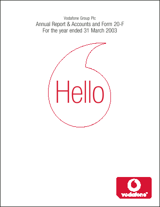 Vodafone Group annual report 2003