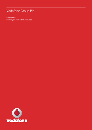 Vodafone Group annual report 2008