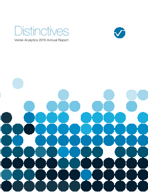 Verisk Analytics, Inc. annual report 2015