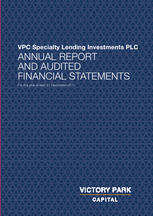VPC Specialty Lending Investments Plc annual report 2017