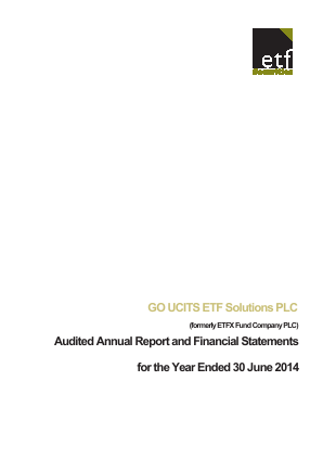 Go Ucits ETF Solutions Plc annual report 2014