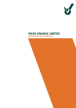 Volta Finance annual report 2007