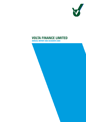 Volta Finance annual report 2009