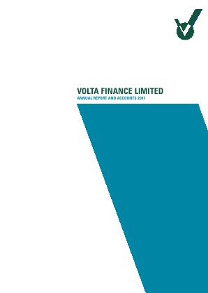 Volta Finance annual report 2011