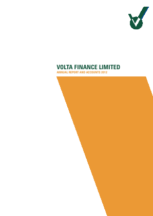 Volta Finance annual report 2012
