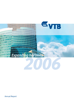 VTB Bank(PJSC) annual report 2006