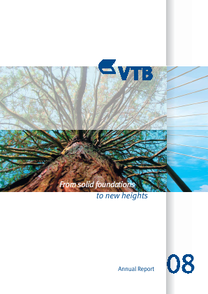 VTB Bank(PJSC) annual report 2008