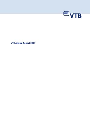 VTB Bank(PJSC) annual report 2013