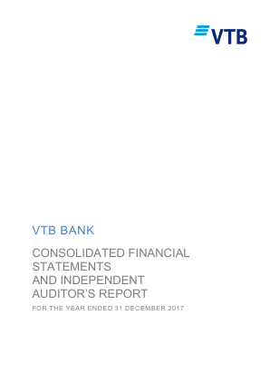 VTB Bank(PJSC) annual report 2017