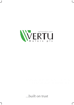 Vertu Motors Plc annual report 2010