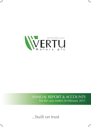 Vertu Motors Plc annual report 2011