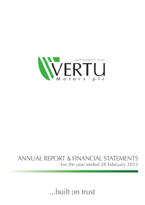 Vertu Motors Plc annual report 2013