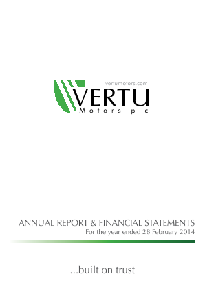 Vertu Motors Plc annual report 2014