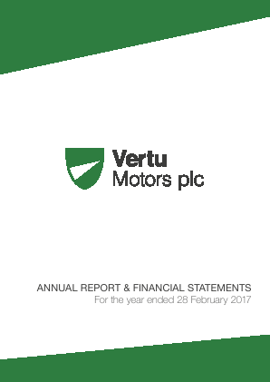 Vertu Motors Plc annual report 2017