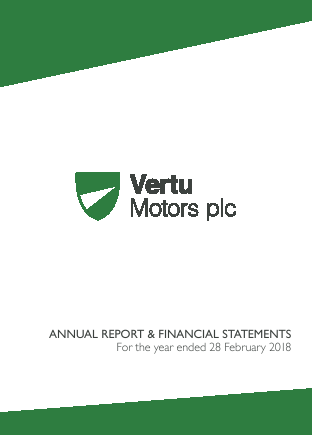 Vertu Motors Plc annual report 2018