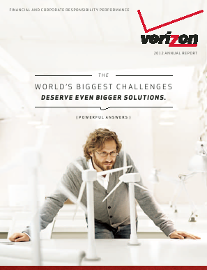 Verizon annual report 2012