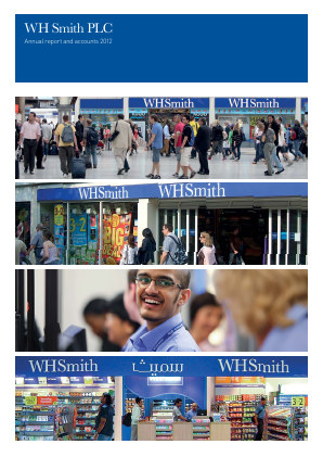 WH Smith Plc annual report 2012