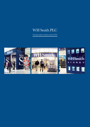 WH Smith Plc annual report 2013