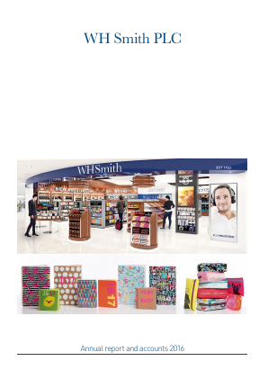 WH Smith Plc annual report 2016