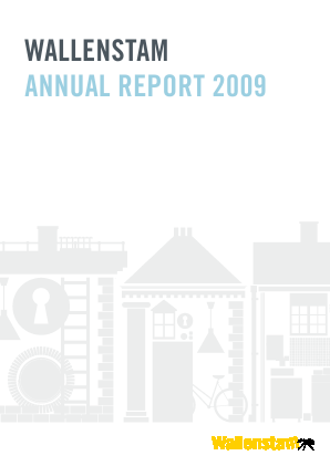 Wallenstam annual report 2009
