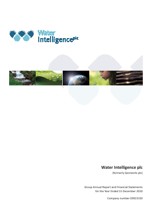 Water Intelligence Plc annual report 2010