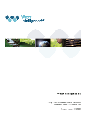 Water Intelligence Plc annual report 2012