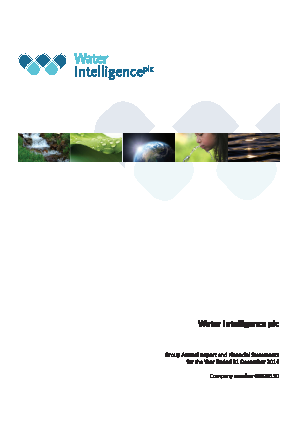 Water Intelligence Plc annual report 2014