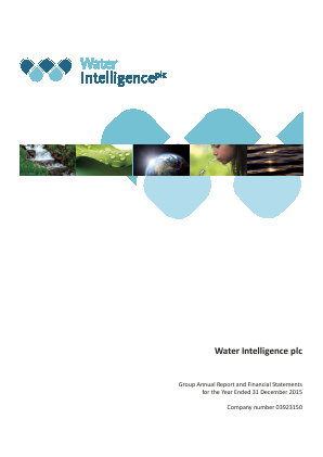 Water Intelligence Plc annual report 2015