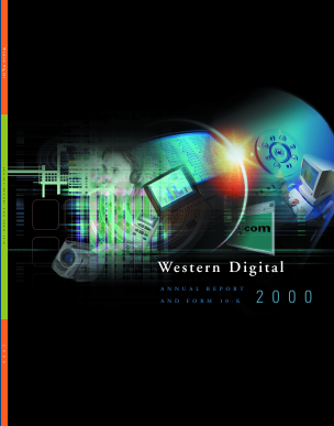 Western Digital Corporation annual report 2000