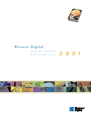 Western Digital Corporation annual report 2001