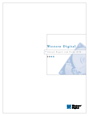 Western Digital Corporation annual report 2002