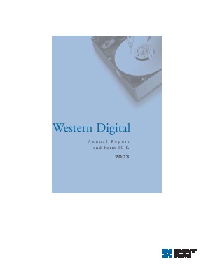 Western Digital Corporation annual report 2003