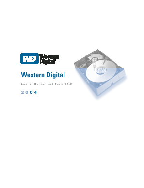 Western Digital Corporation annual report 2004