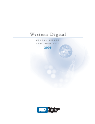 Western Digital Corporation annual report 2005