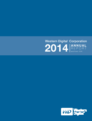 Western Digital Corporation annual report 2014