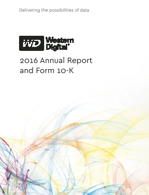 Western Digital Corporation annual report 2016