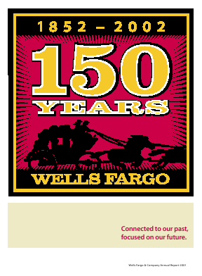 Wells Fargo annual report 2001