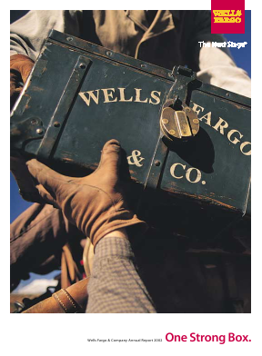 Wells Fargo annual report 2002