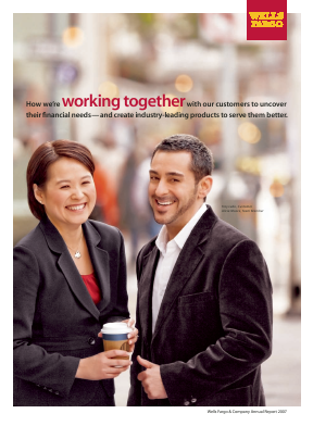 Wells Fargo annual report 2007