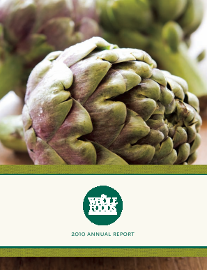 Whole Foods Market, Inc. annual report 2010