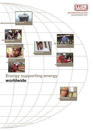 Wood Group(John) annual report 2007