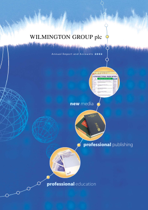 Wilmington Plc annual report 2002