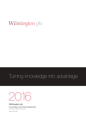 Wilmington Plc annual report 2016