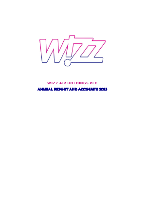 Wizz Air Holdings Plc annual report 2015
