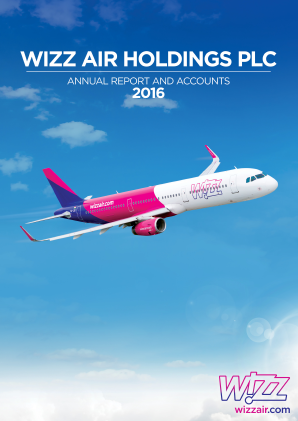 Wizz Air Holdings Plc annual report 2016