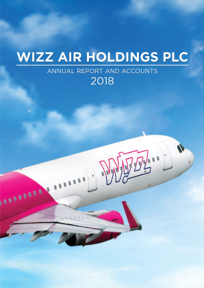Wizz Air Holdings Plc annual report 2018