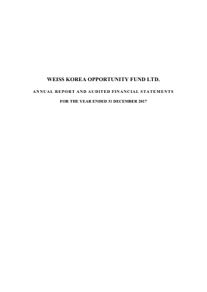 Weiss Korea Opportunity Fund annual report 2017