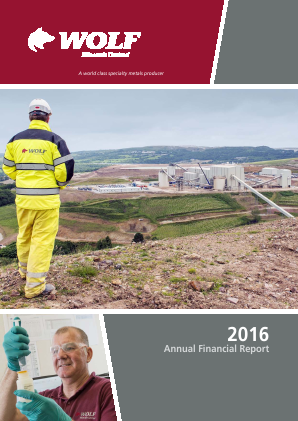 Wolf Minerals annual report 2016