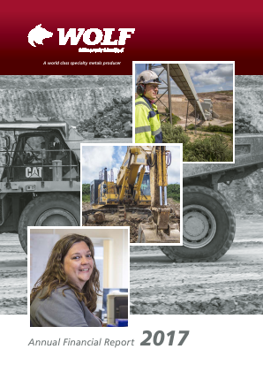 Wolf Minerals annual report 2017
