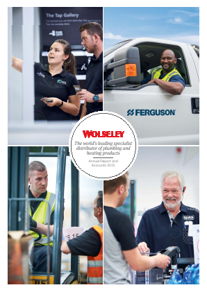 Ferguson Plc (Formally Wolseley Plc) annual report 2015